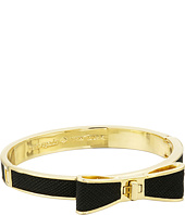 Kate Spade New York - Perfectly Placed Hinged Leather Bow Bangle Bracelet