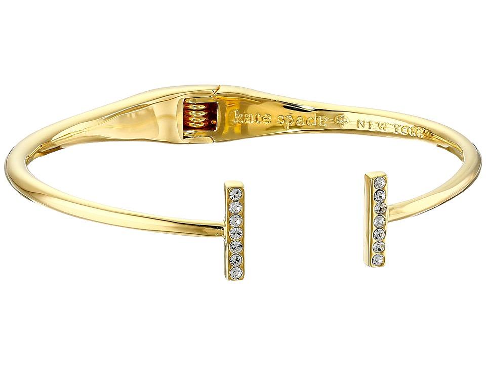 Kate Spade New York - Dainty Sparklers Bar Cuff Bracelet (Clear) Bracelet
