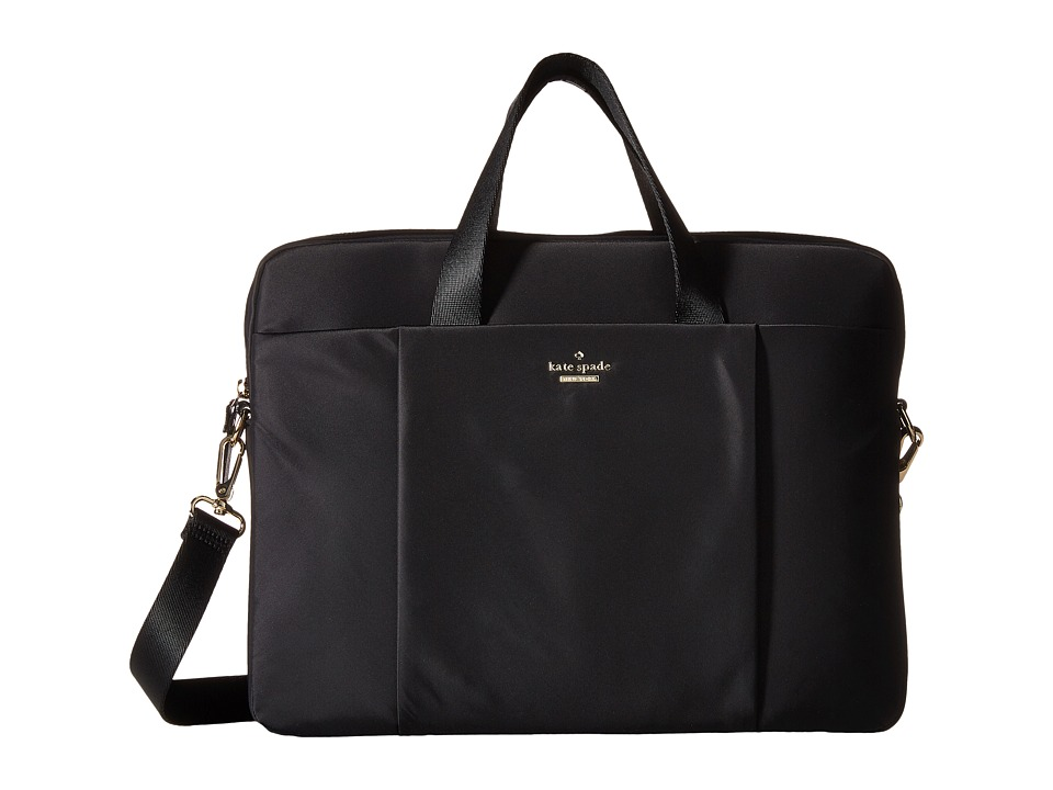 Kate Spade New York - Classic Nylon Laptop Case 15 (Black) Computer Bags