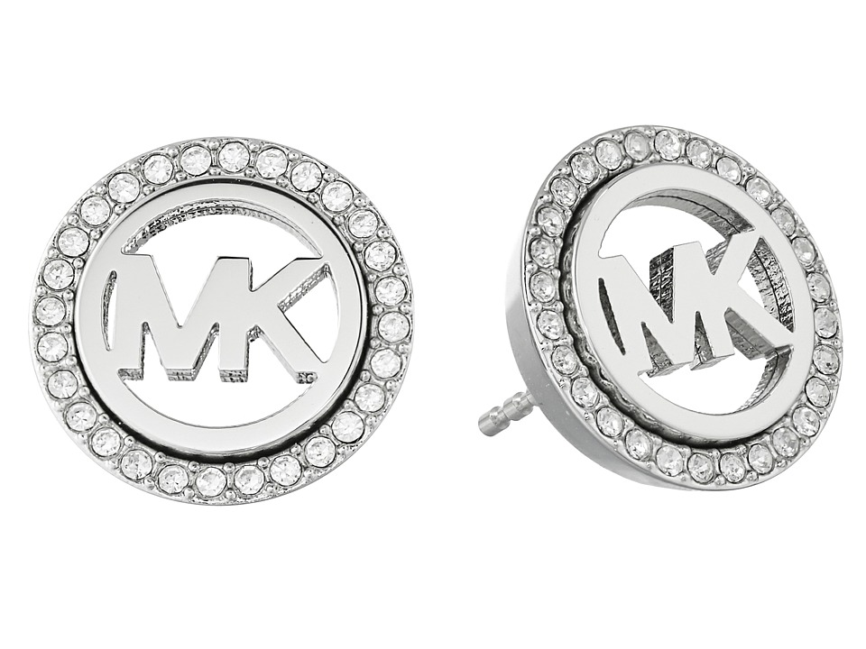 Michael Kors - Pave Stud Earrings (Silver) Earring