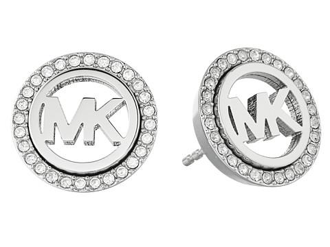 Michael Kors Pave Stud Earrings - Silver