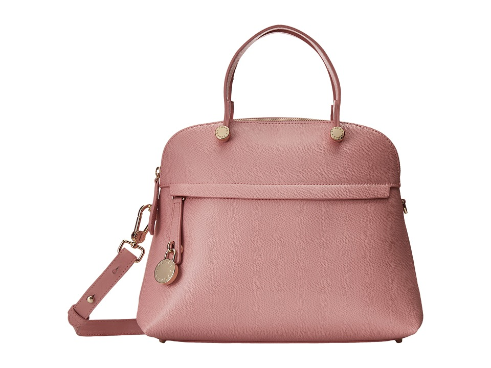 Furla - Piper Medium Dome (Winter Rose) Satchel Handbags