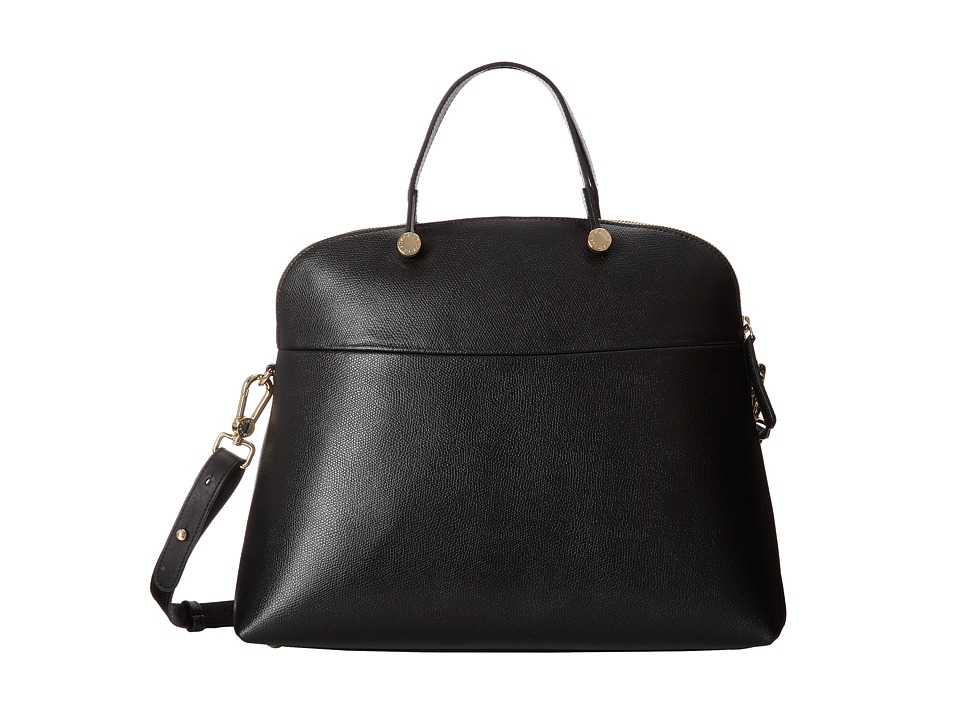 Furla - Piper Large Dome (Onyx) Shoulder Handbags