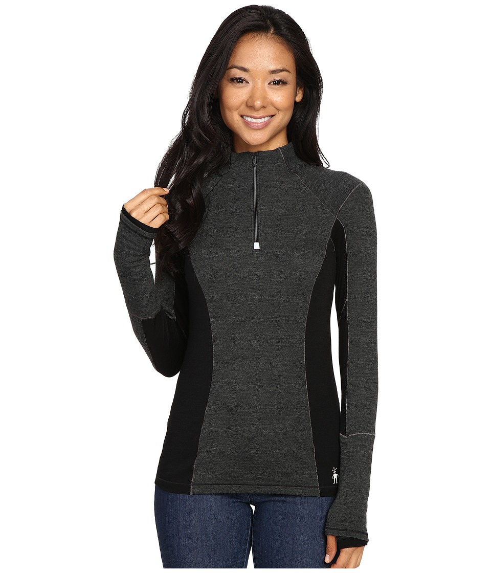 Smartwool PhD Light Zip T (Charcoal Heather) Women