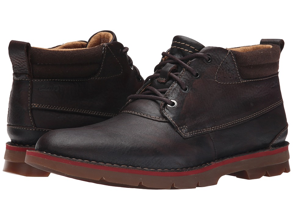 Clarks - Varick Hill (Dark Brown Tumbled Leather) Men