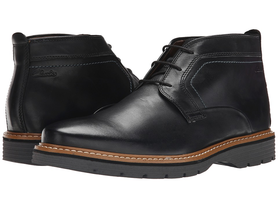 Clarks - Newkirk Top (Black Leather) Men