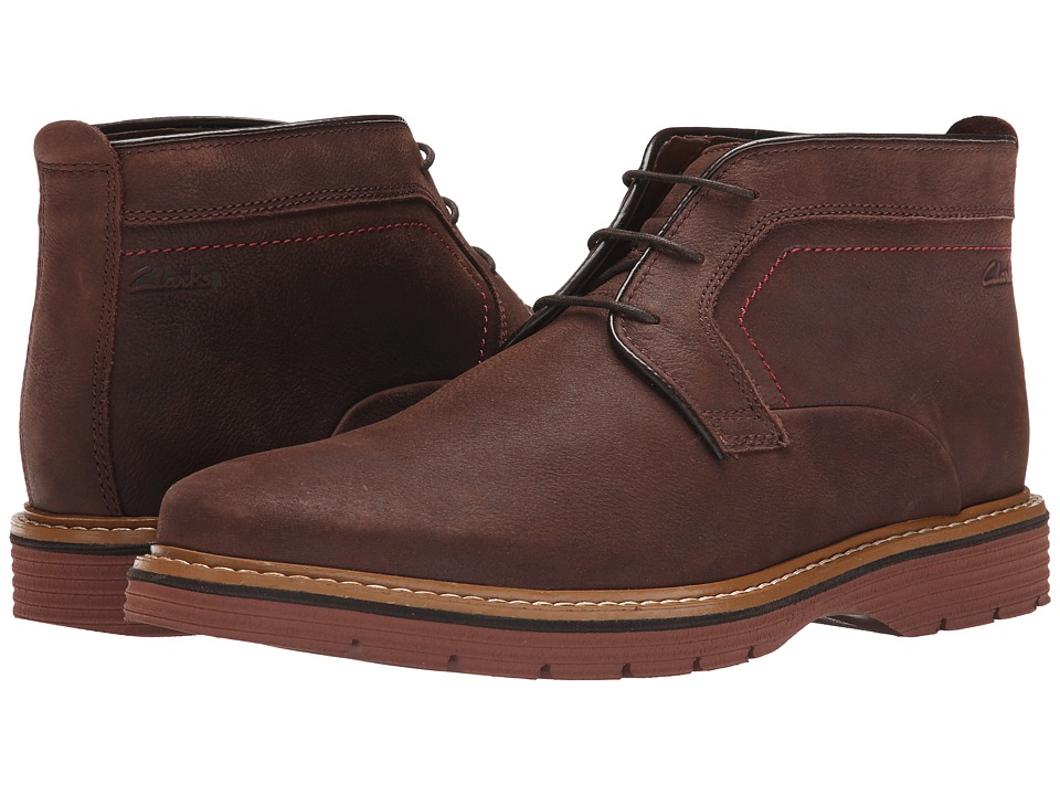 Clarks - Newkirk Top (Dark Brown Nubuck) Men