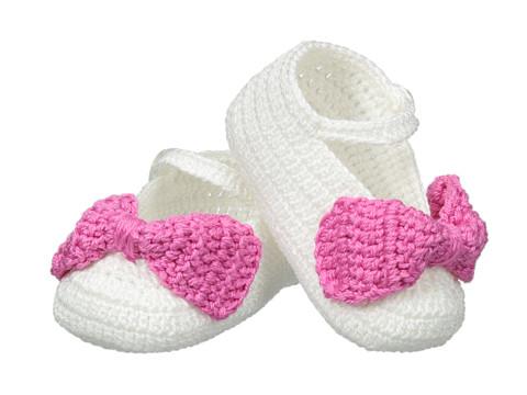 Jefferies Socks Bow Bootie (Infant) - White/Bubblegum