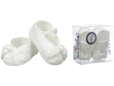 Jefferies Socks Bow Bootie (Infant) - White/White