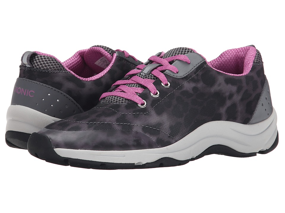 VIONIC Action Tourney Lace Up Grey Leopard Womens Lace up casual Shoes