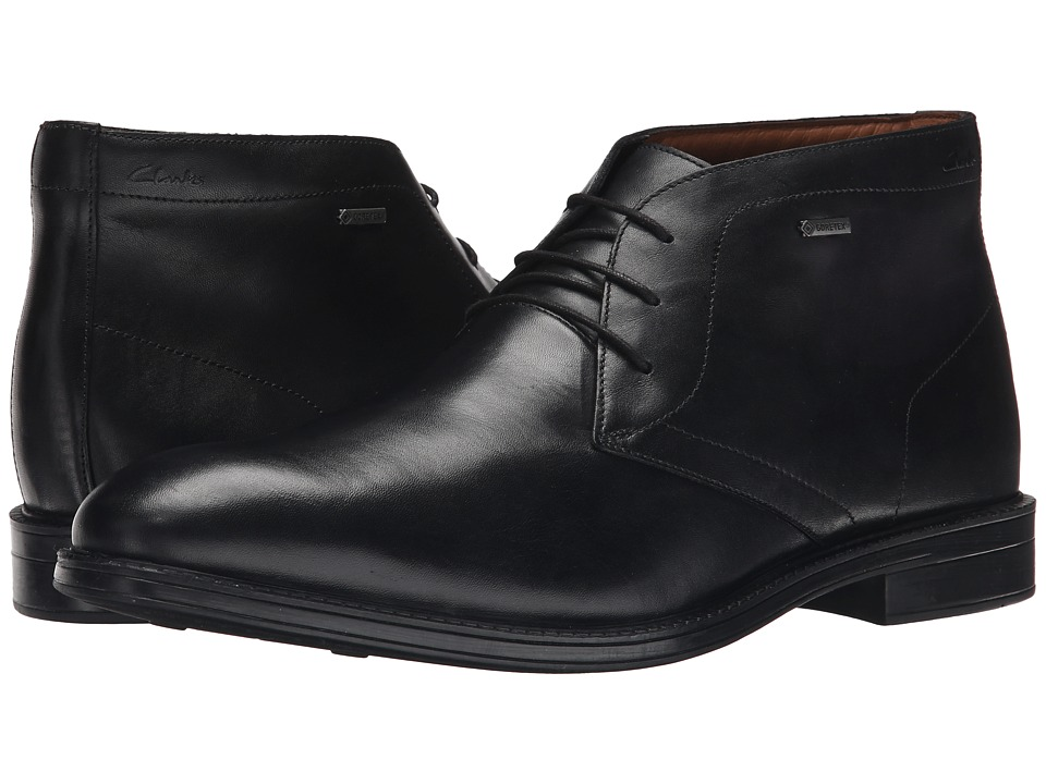 Clarks - Chilver Hi GTX (Black Leather) Men