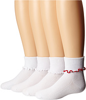 Jefferies Socks - Seamless Ripple Edge 4-Pack (Toddler/Little Kid/Big Kid)