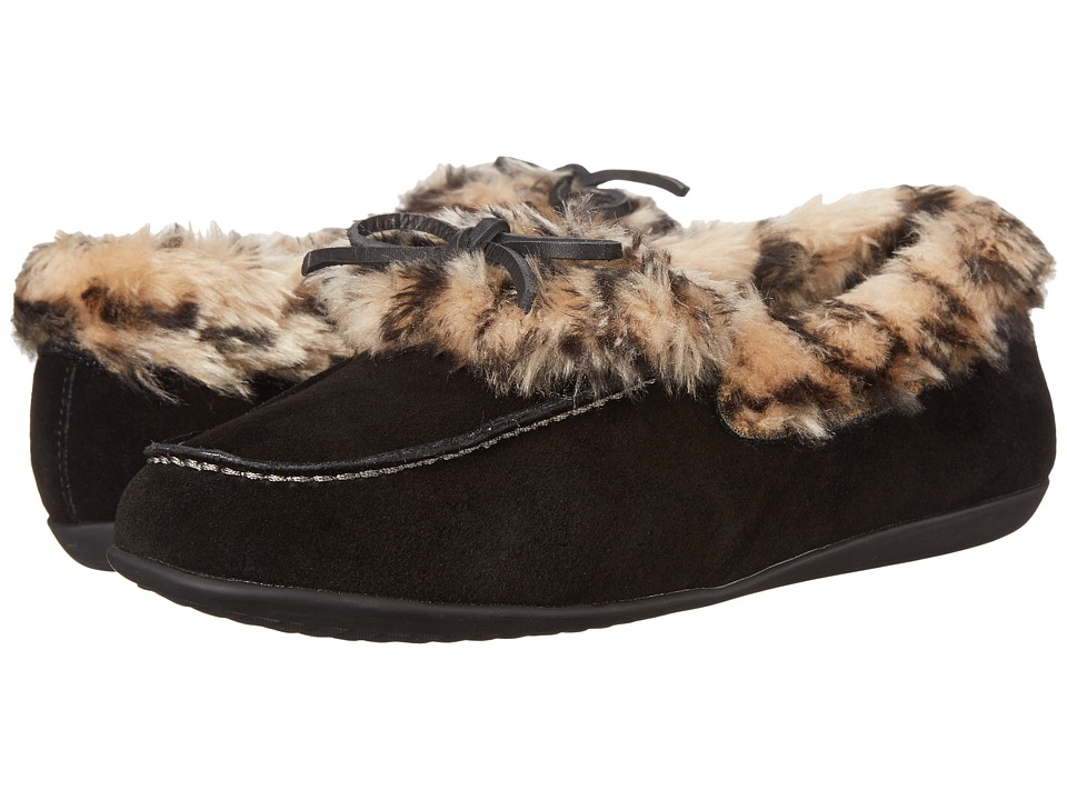 Vionic Cozy Juniper Moccasin (Black) Women's Slip on  Shoes
