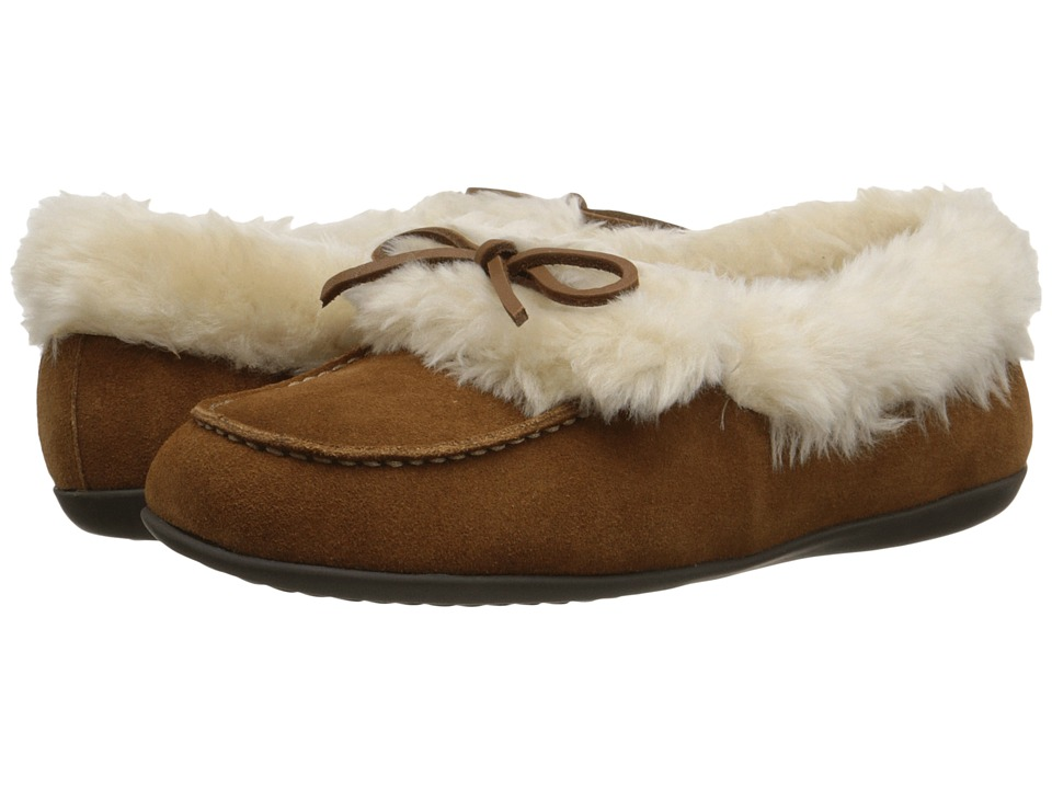 VIONIC Cozy Juniper Moccasin Chestnut Womens Slip on Shoes