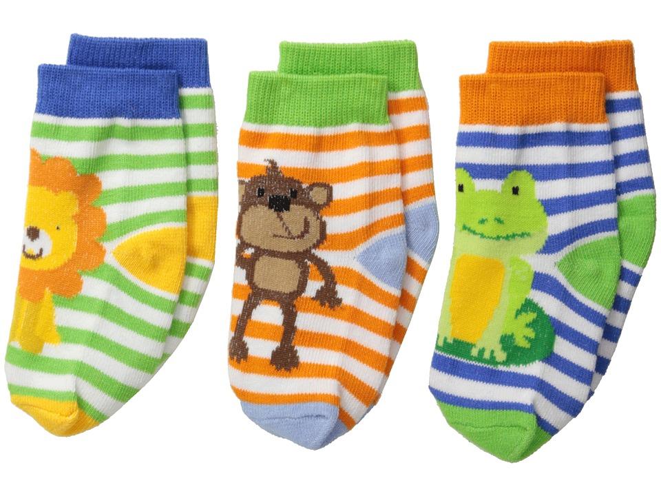Jefferies Socks Jungle 3 Pack Infant/Toddler Multi Boys Shoes