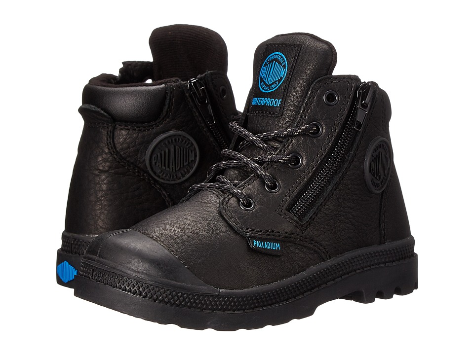 Palladium Kids Pampa Hi Cuff Waterproof Toddler Black Boys Shoes