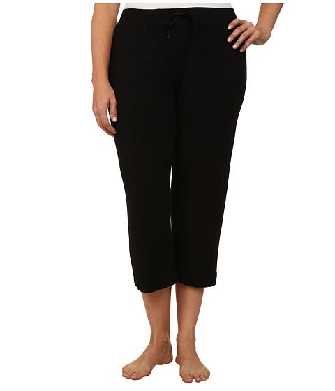 DKNY Plus Size Urban Essentials Capris - Black