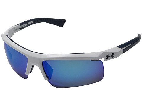 Under Armour Core 2.0 - Shiny White/Navy Frame/Gray/Blue Multiflection Lens