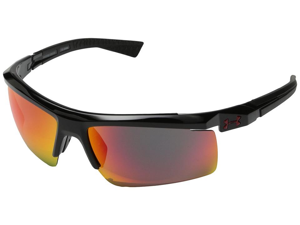 Under Armour - Core 2.0 (Shiny Black/Black Frame/Gray/Infrared Multiflection Lens) Sport Sunglasses