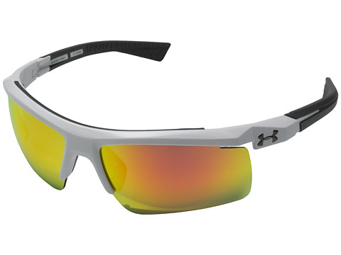 Under Armour Core 2.0 - Shiny White/Charcoal Gray Frame/Gray/Orange Multiflection Lens