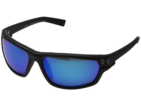 Under Armour Hook D - Storm ANSI Satin Black Frame/Gray Polarized/Blue Mirror Lens