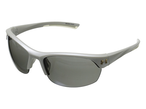Under Armour UA Marbella - Satin Pearl/Frosted Clear Frame/Gray/Multiflection Lens