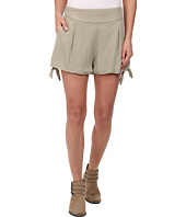 Free People - Rayon Geometic Jacquard Solid Tie Short