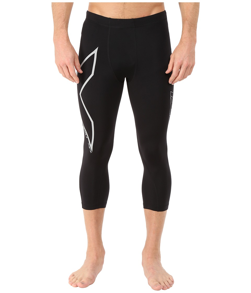 2XU Hyoptik Thermal Compression 3/4 Tights (Black/Silver Reflective) Men