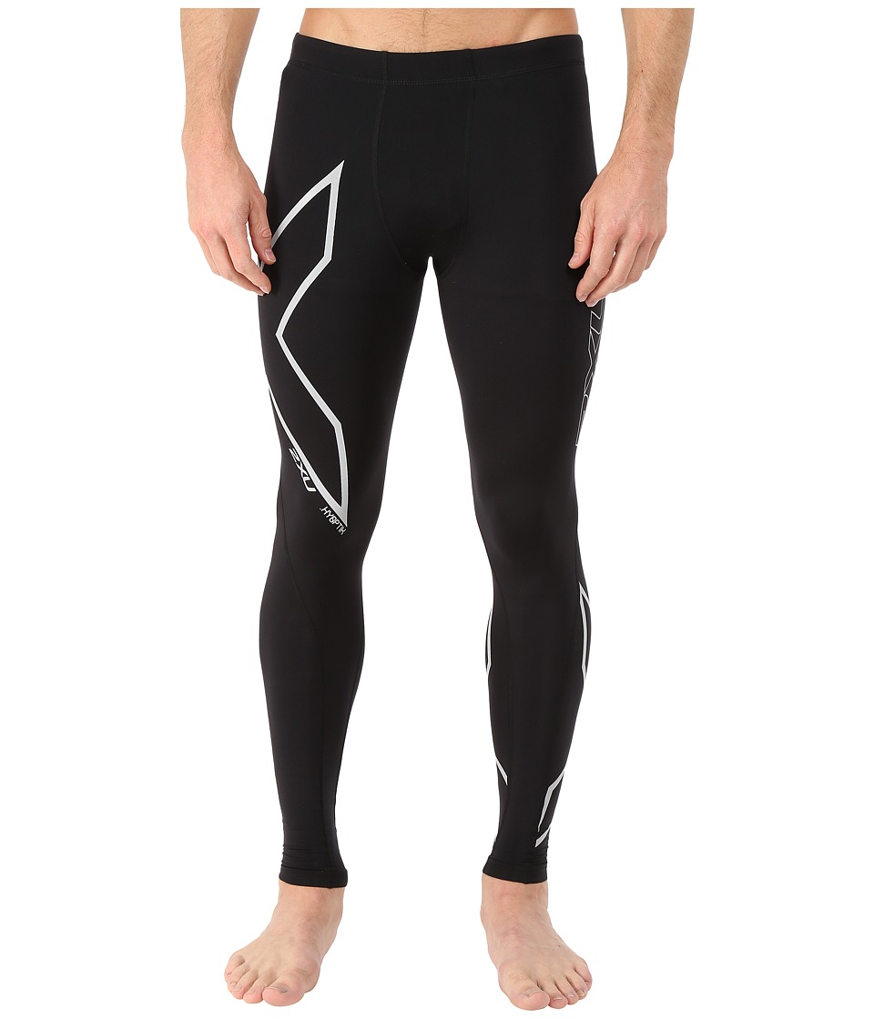 2XU Hyoptik Thermal Compression Tights (Black/Silver Reflective) Men