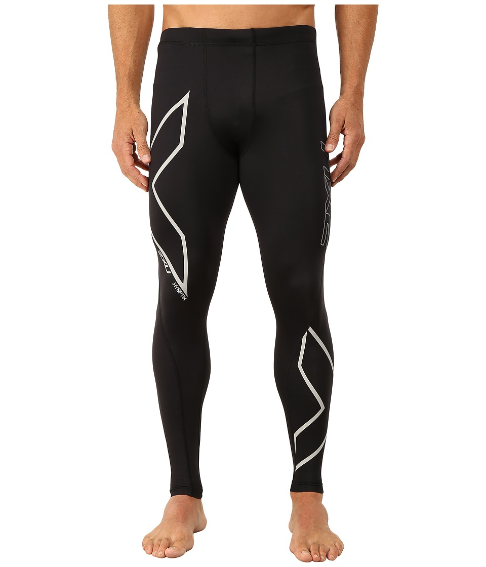 2XU Hyoptik Compression Tights (Black/Silver Reflective) Men