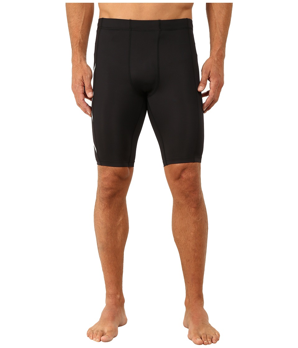 2XU Hyoptik Compression Shorts (Black/Silver Reflective) Men