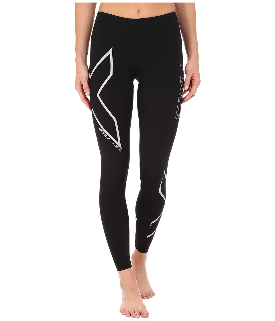 2XU Hyoptik Mid-Rise Thermal Compression Tights (Black/Silver Reflective) Women