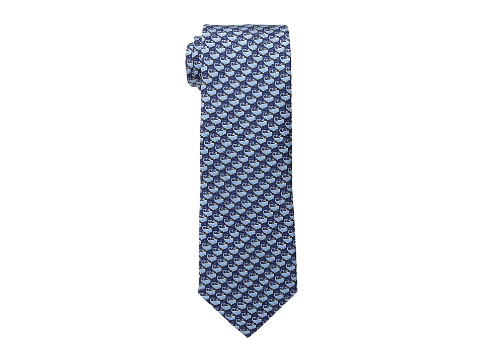 Tommy Hilfiger Whale Print Blue Ties