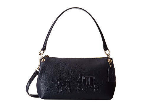 coach embossed horse and carriage charley crossbody li