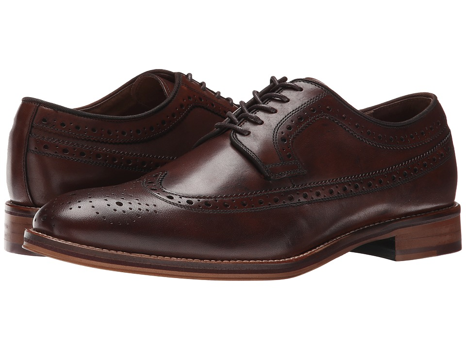 Johnston amp Murphy - Conard Wingtip Mahogany Calfskin Mens Lace Up Wing Tip Shoes $155.00 AT vintagedancer.com