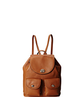 COACH - Refined Pebble Leather Turnlock Tie Rucksack