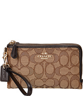 COACH - Signature Jacquard Double Corner Zip