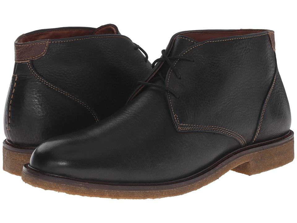Johnston & Murphy - Copeland Chukka (Black Tumbled Full Grain) Mens Lace-up Boots