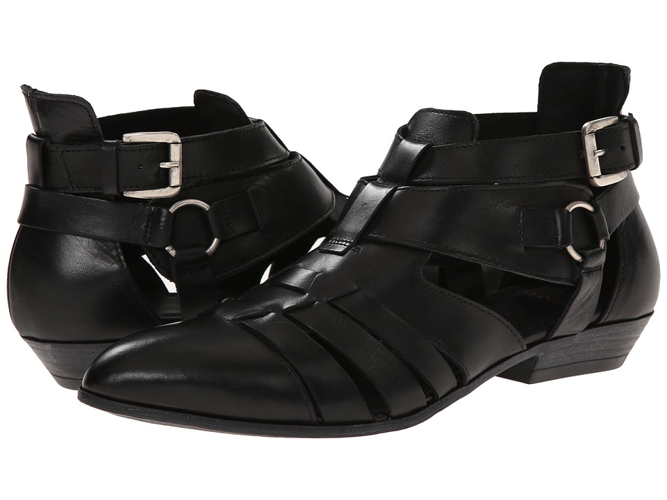 Summit White Mountain Belen Black Leather Womens 1 2 inch heel Shoes