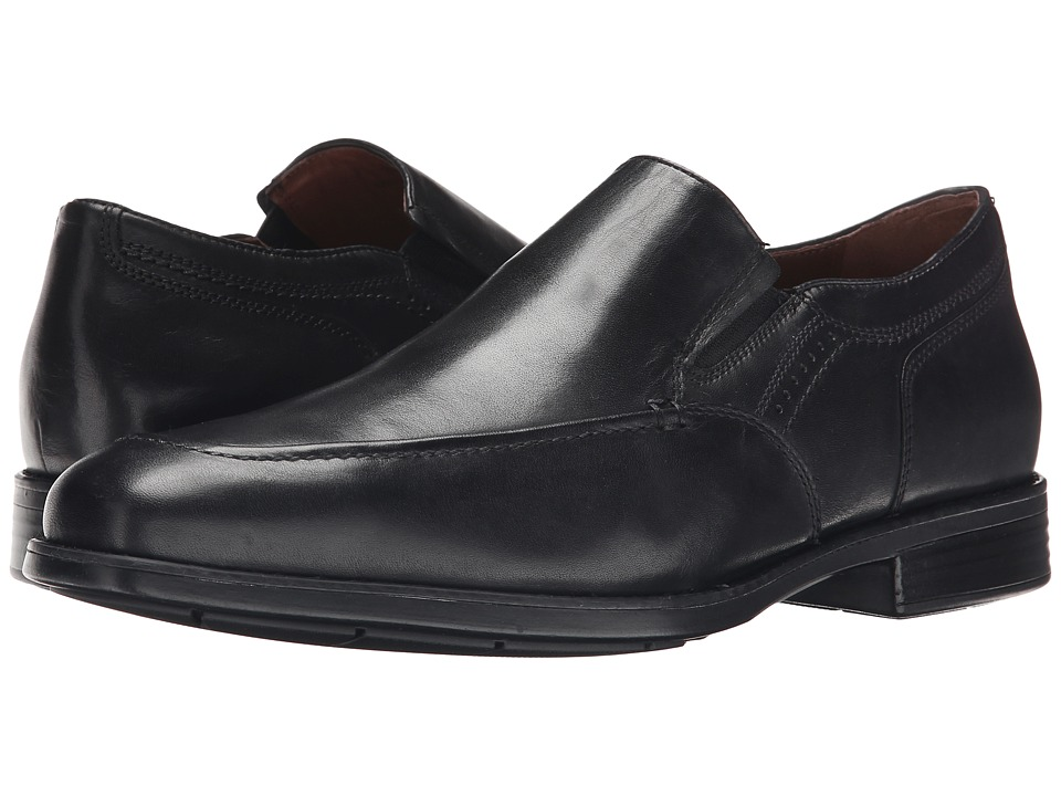 Johnston amp Murphy Branning Moc Venetian Black Waterproof Calfskin Mens Slip on Dress Shoes