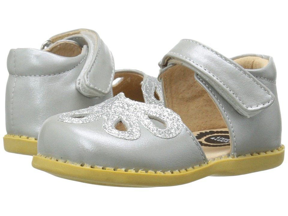 Livie + Luca Petal (Toddler/Little Kid) (Silver Metallic) Girl's Shoes