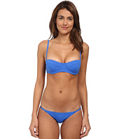 Proenza Schouler - Reef Solids Underwire Demi Top w/ Adjustable Straps & Small Bikini Brief