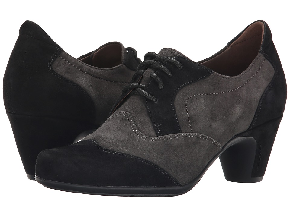 Earth - Milan Earthies Black Suede Womens  Shoes $159.99 AT vintagedancer.com