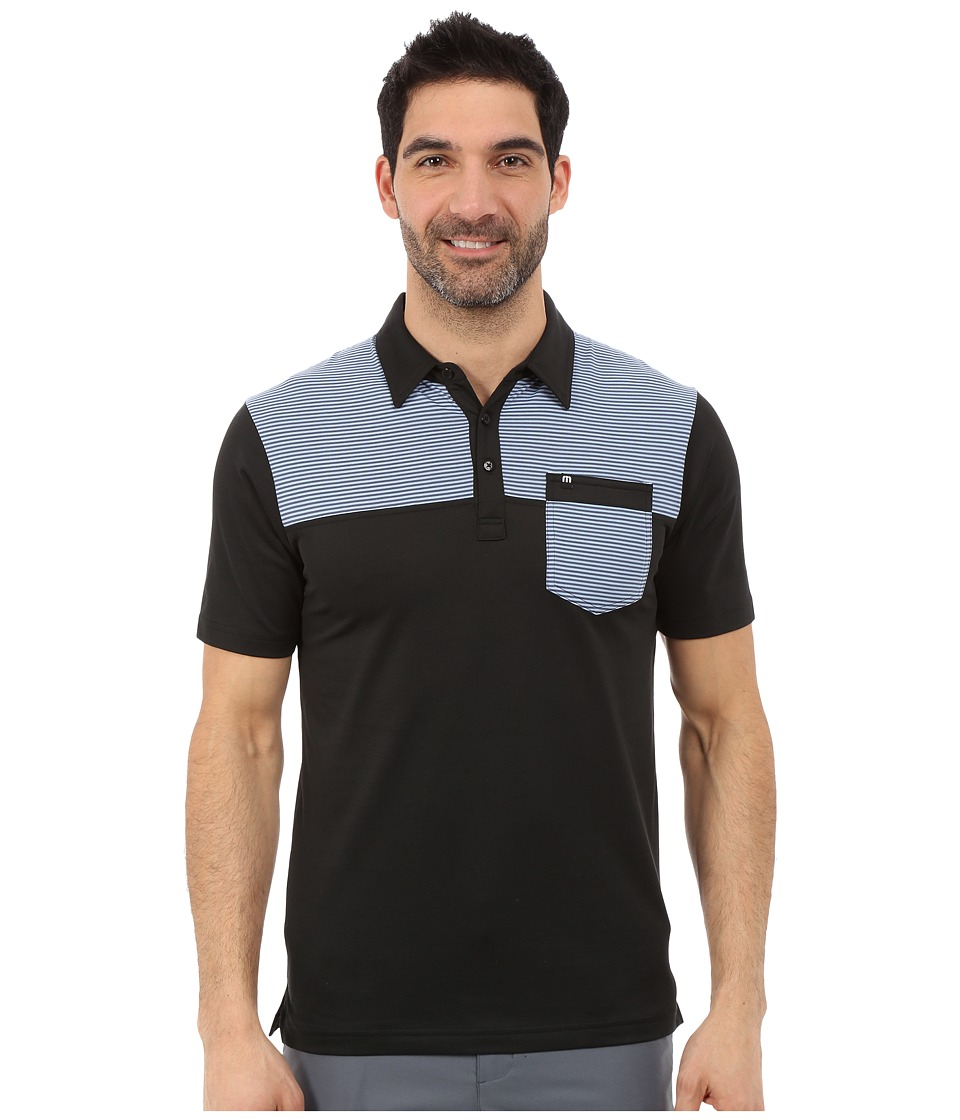 TravisMathew Blackies Black Mens Short Sleeve Knit