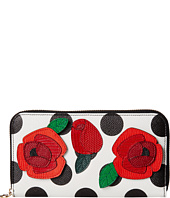 Dolce & Gabbana - Polka Dot and Floral Zip Around Wallet