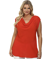 MICHAEL Michael Kors - Plus Size Woven Mix Cowl Top