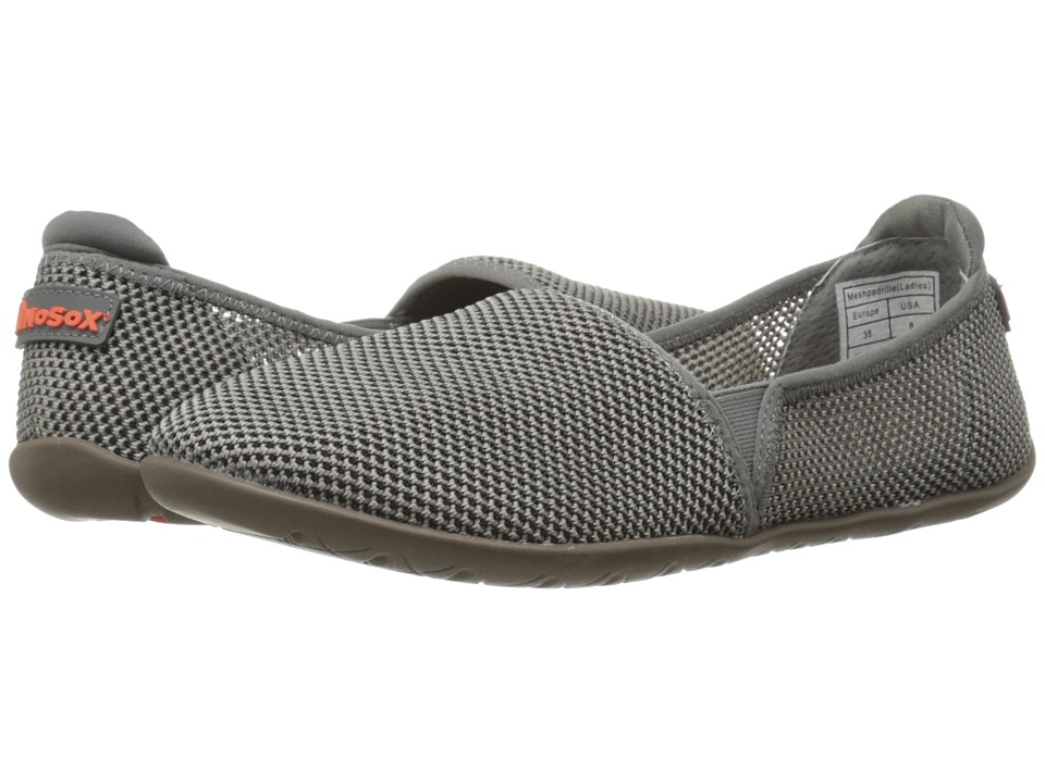 NoSoX Meshpadrille Grey Womens Shoes