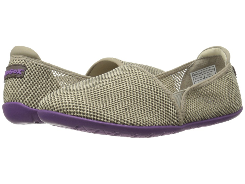 NoSoX Meshpadrille Taupe/Purple Womens Shoes