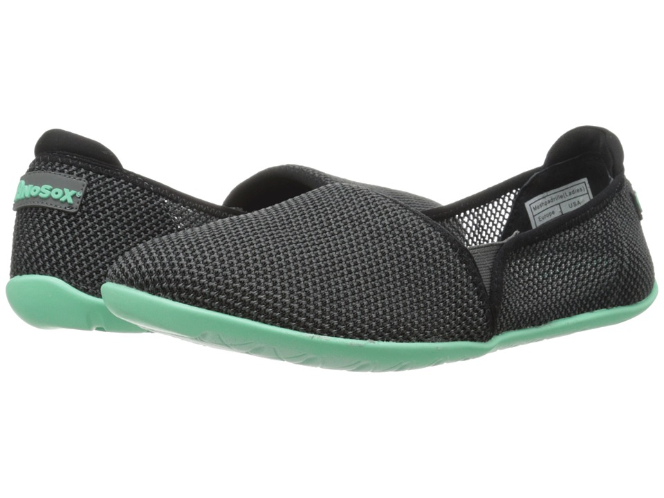 NoSoX Meshpadrille Charcoal/Mint Womens Shoes