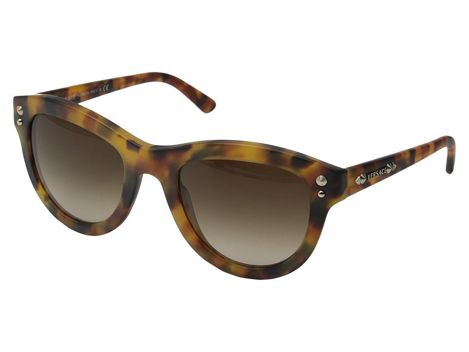 Versace VE4291 Matte Havana/Brown Gradient Fashion Sunglasses